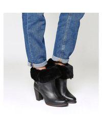 Ugg Black Jayne Heeled Boot