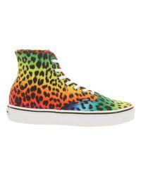 Vans Multicolor Authentic Hi Leopard Black Rainbow for men