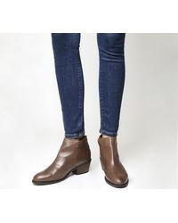Office Brown Aiden Back Zip Boots