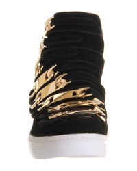Jeffrey Campbell Black Malta Linked Hi Top Sneaker