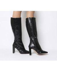Office Black Kobra-set Back Heel Knee Boot