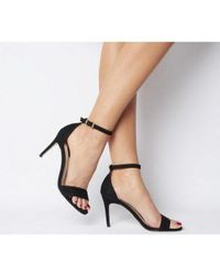 Office Black Mimosa Two Part Mid Sandal