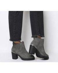 Office Gray Agile- Chunky Chelsea Boot