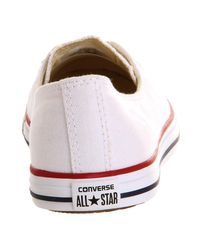 Converse White Dance Lace Trainers