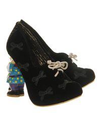 Irregular Choice Black Bashful Brenda Gnome Heel
