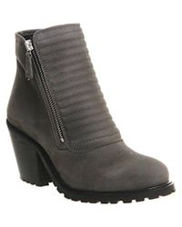 Office Gray Ignite Padded Front Boots