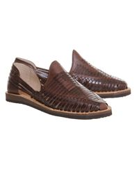 Chamula Brown Cancun Closed Toe Sandal