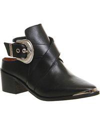 Office Black Jackal Cut Out Buckle Boot