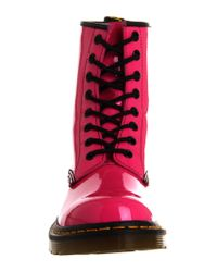 Dr. Martens - Pink 8 Eyelet Lace Up Boot - Lyst