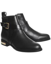 Office - Black Archer Strap Detail Boots - Lyst