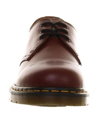 Dr. Martens Red 3 Eye Lace Shoes for men