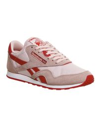 Reebok Pink Cl Nylon Trainers