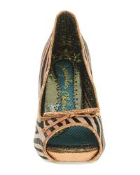 Irregular Choice Multicolor Paw Print Cat Heel