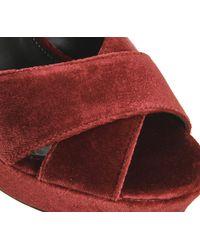 Office Red Nano Platform Sandals