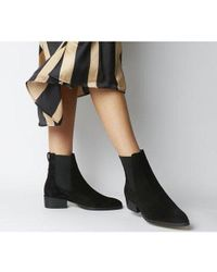 Office Black Asset- Flat Chelsea Boot