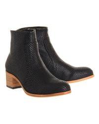 H by Hudson Black Plath Zip Boots