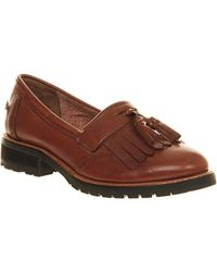 Office Brown Viva Tassel Cleated Loafers