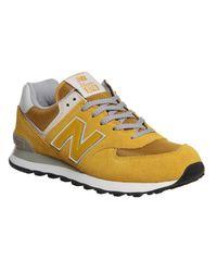 New Balance Yellow M574 for men