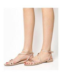 Office Pink Sugar Asymmetric Sandals