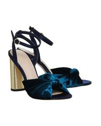 Office - Multicolor Natural Cylindrical Heel Sandals - Lyst