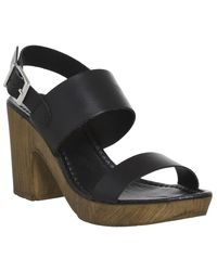 Office Black Michelle Wood Sandals