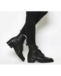 Office Black Amped Up- Lace Up Ankle Boot