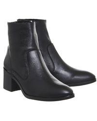 Office Black Albury Block Heel Boots
