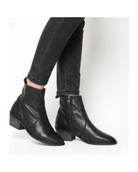Office - Black Leighton Unlined Western Boots - Lyst