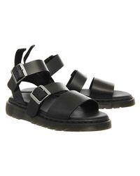 Dr. Martens Black Shore Grython Strap Sandals for men