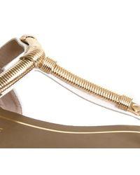 Office Metallic Obsess T Bar Metal Trim Sandals