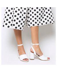Office - White Miffy Tie Block Sandal - Lyst