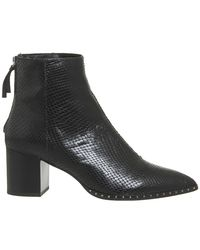 Office Black Aromatic Block Heel Boots