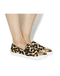 Office Brown Rescue Toe Cap Slip On Shoes