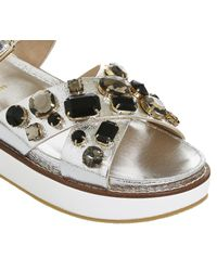 Office Metallic Manic Gem Trim Sandals