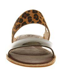Ugg Brown Amalia Leopard Sandal