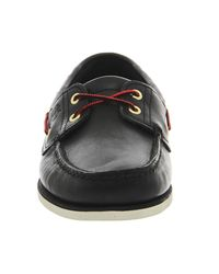 Timberland Black New Boat Shoes for men