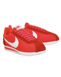 Nike Red Cortez Nylon