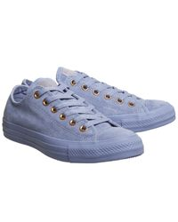 Converse - Blue All Star Low Leather - Lyst