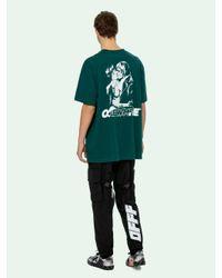 メンズ Off-White c/o Virgil Abloh Kiss プリント Tシャツ Green