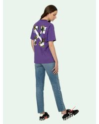 Off-White c/o Virgil Abloh プリント Tシャツ Purple