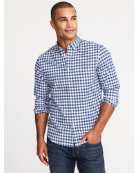 770ad61605b Lyst - Old Navy Slim-fit Built-in Flex Everyday Oxford Shirt in Blue ...