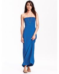 Old Navy Blue Women's Convertible Tube Maxi Dresses