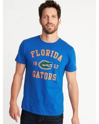 Old Navy - Blue College-team Graphic Tee for Men - Lyst