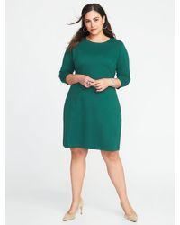 dd09691acca53 Lyst - Old Navy Plus-size Ponte-knit Sheath Dress in Green