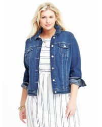 424b34fb136 Lyst - Old Navy Plus-size Denim Jacket in Blue