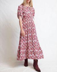 Warm Multicolor Geranium Dress