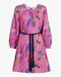 Tanya Taylor Multicolor Sylvia Belted Dress