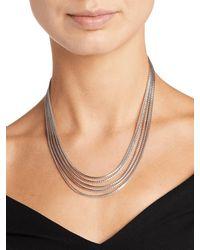 John Hardy - Metallic Classic Chain Five Row Necklace - Lyst