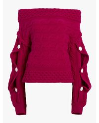 Hellessy Multicolor Dorian Off-the-shoulder Sweater
