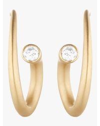 Carelle Metallic Whirl Diamond Spiral Earrings